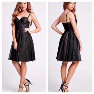 GUESS Black Dancer Lace Detail Corset Dress